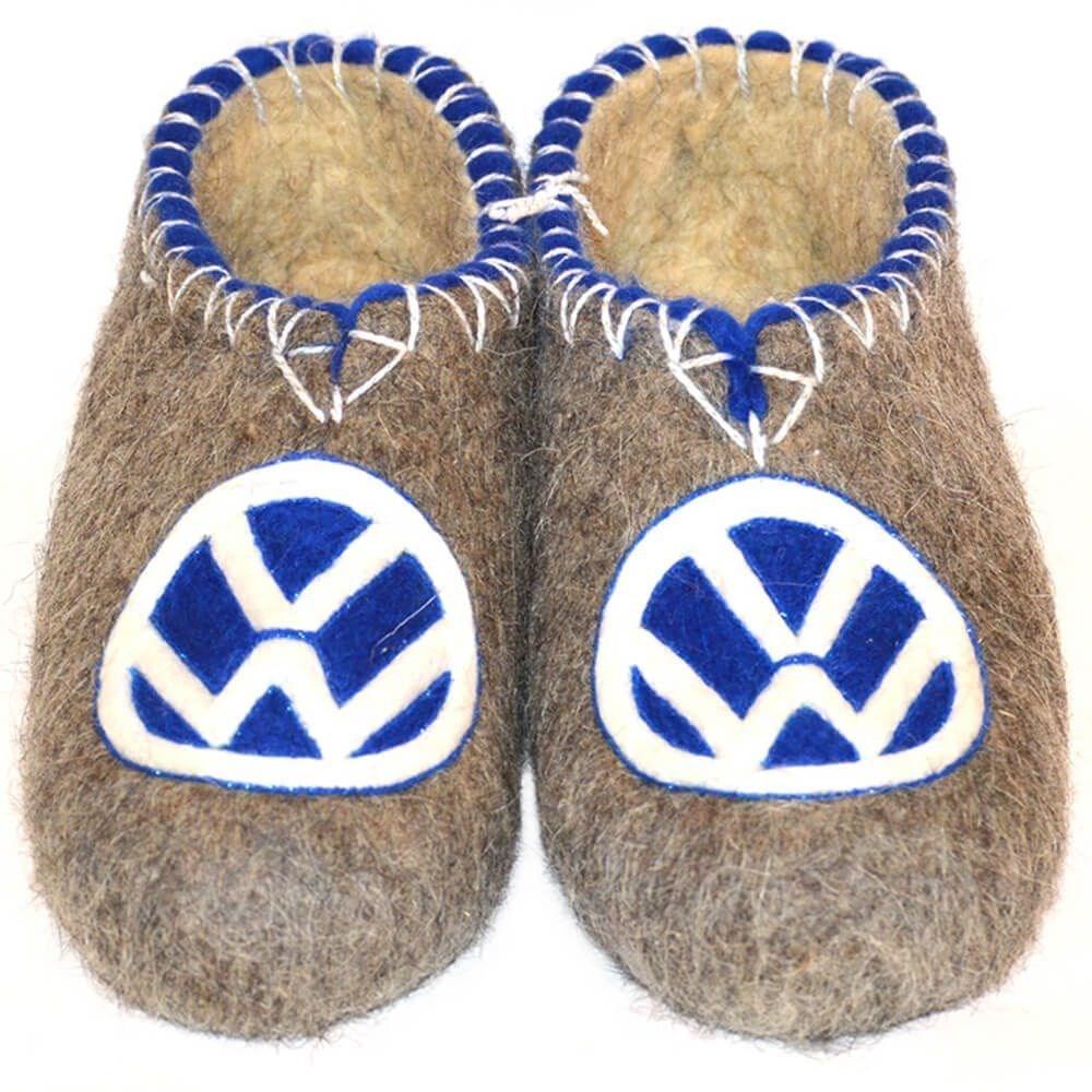 """Тапочки мужские """"Volkswagen"""" с синей эмблемой (Т017Н)"""