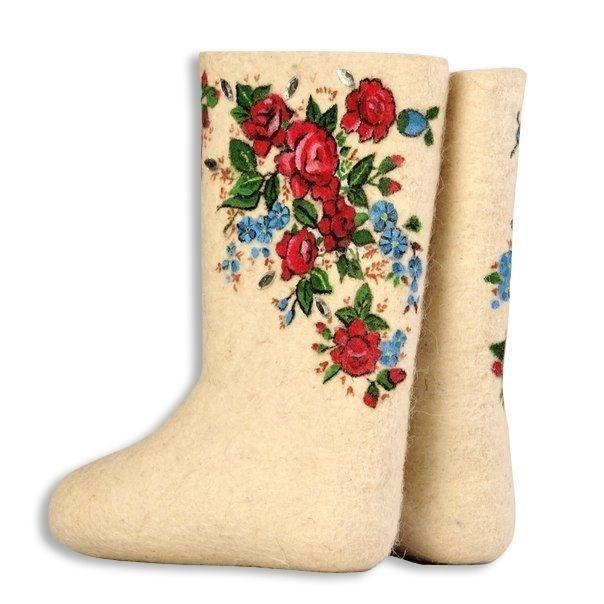 """Валенки женские """"Чайные розы"""" (085А)"""