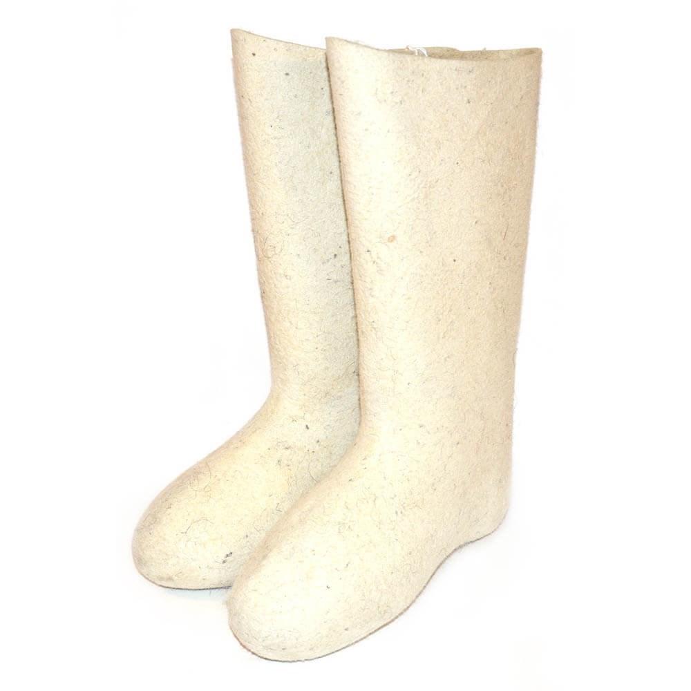 Валенки мужские белые фабричные кукморские (220-1м)