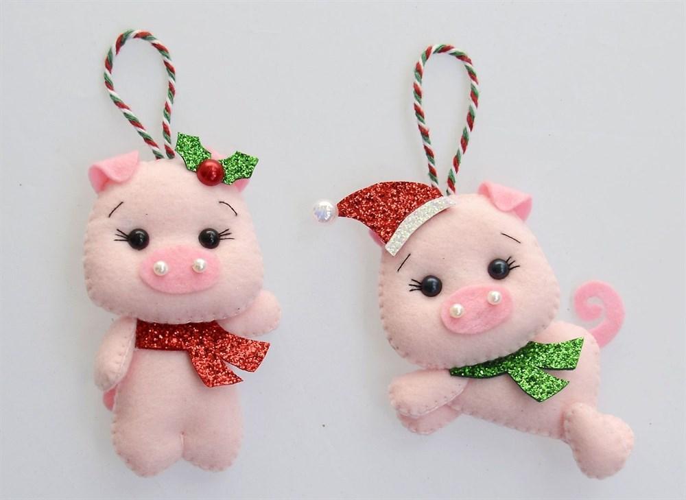 Новогодние игрушки из фетра(НИФ05)