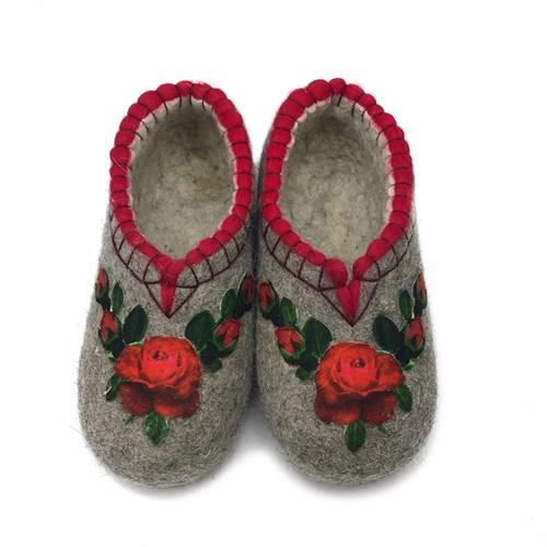 """Тапочки женские """"Красные розы"""" (Т370) - фото 10362"""