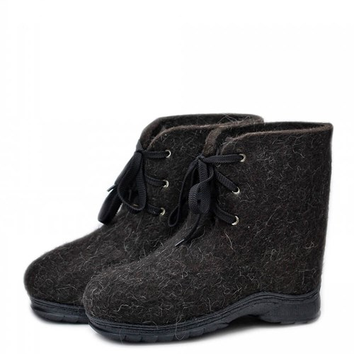 """Валенки-ботинки черные на шнуровке """"Хавас 30"""" - фото 12497"""