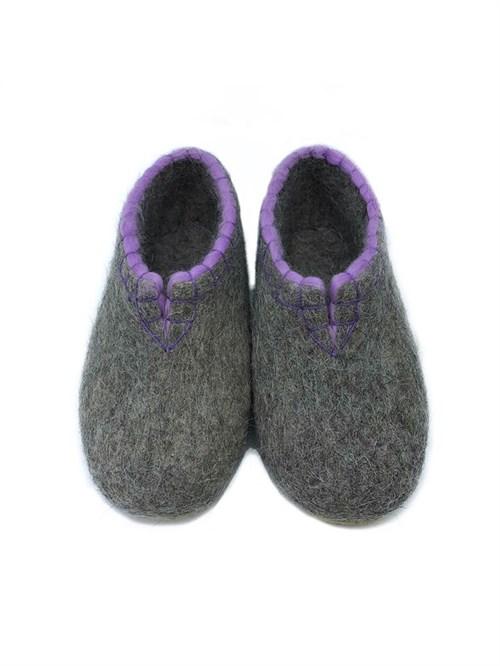 Тапочки женские с фиолетовой обшивкой (Т333) - фото 12602