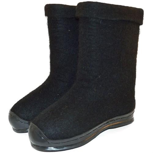 Полуваленки женские черные крашенные на подошве (100Кж-ГЧВ)