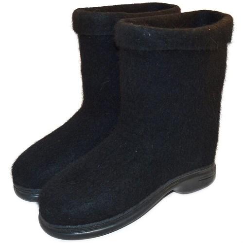 Полуваленки черные мужские крашенные на подошве (100К-90370М)