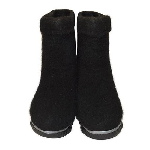 Полуваленки женские черные крашенные на подошве (100Кж-70423Ж) - фото 6531