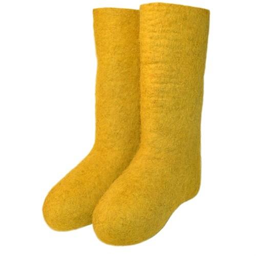 Валенки женские желтые - фото 7193
