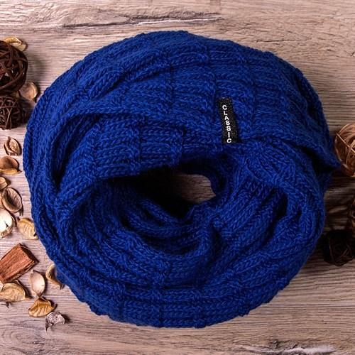 Шапка-снуд с нашивкой CLASSIC, ярко-синий - фото 7681