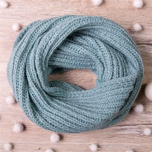 Снуд, плетение косичкой, тёмно-бирюзовый - фото 7694