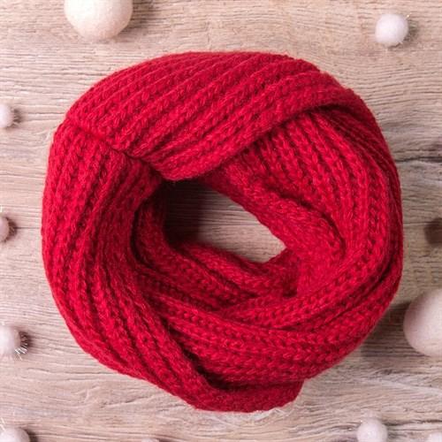 Снуд, плетение косичкой, красный - фото 7702