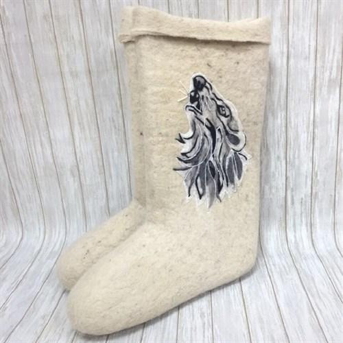 """Валенки белые мужские """"Волк"""" (0240Н)"""