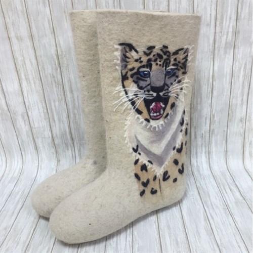 """Валенки белые мужские """"Леопард"""" (0241Н)"""