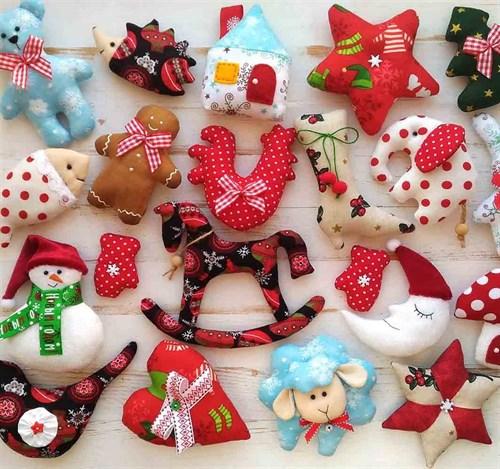Новогодние игрушки из фетра(НИФ01) - фото 8723