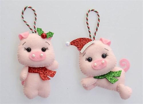 Новогодние игрушки из фетра(НИФ05) - фото 8726