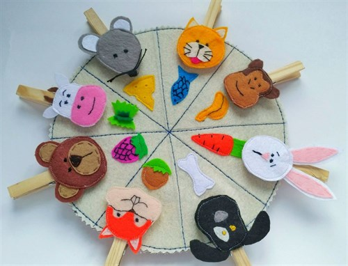 Развивающие игрушки из фетра(РИФ02)
