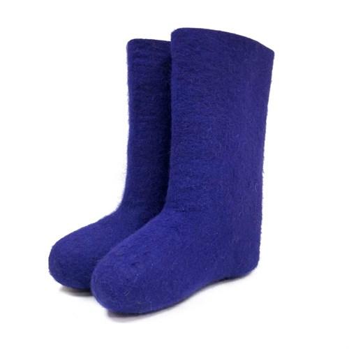 Валенки женские фиолетовые - фото 9411