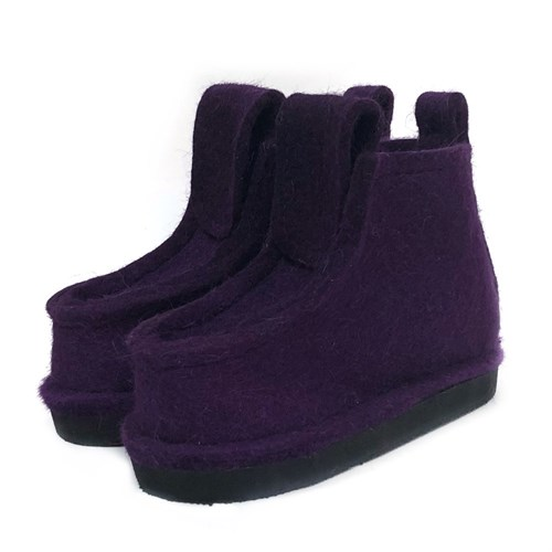Валенки на подошве ЭВА фиолетовые (ВШ90) - фото 9768