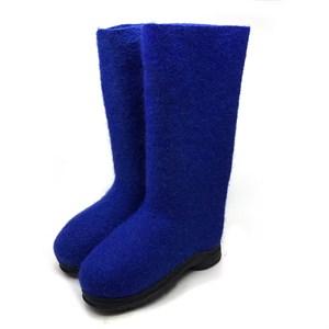 Валенки синие на черной подошве ТЭП (500ж-70458ЧЖ)