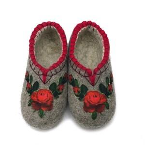 """Тапочки женские """"Красные розы"""" (Т370)"""
