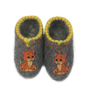 "Тапочки детские ""Рыжий котенок"" (Т379)"