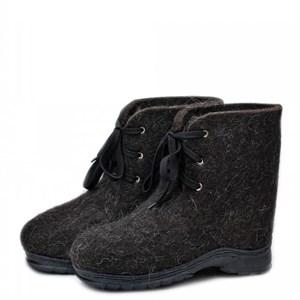 """Валенки-ботинки черные на шнуровке """"Хавас 30"""""""