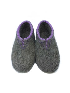 Тапочки женские с фиолетовой обшивкой (Т333)