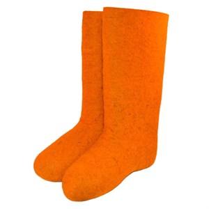Валенки женские оранжевые