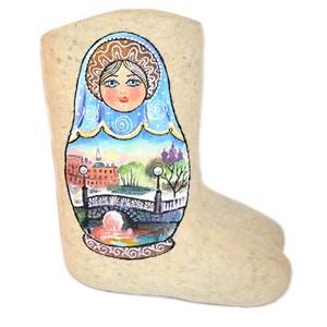 """Валенки женские """"Матрешка Питерские мосты"""" (0159А)"""